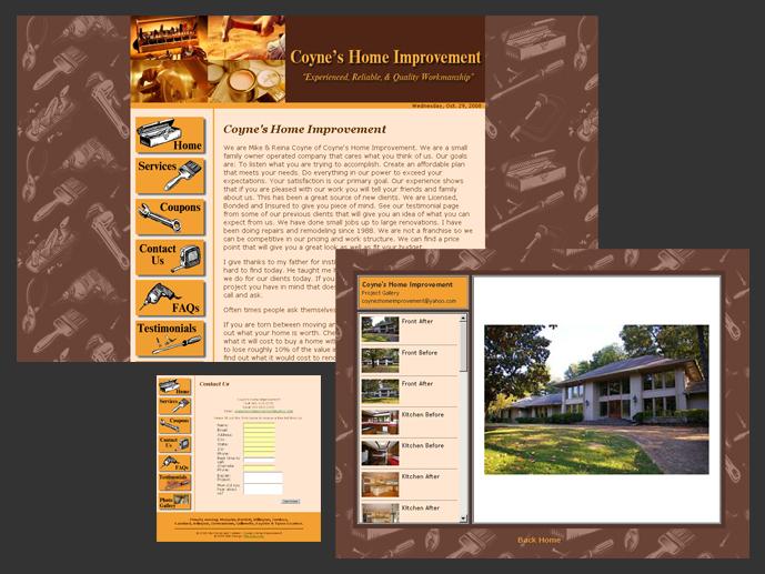 Coyneu0027s Home Improvement Website Design