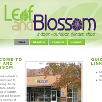 Leaf and Blossom website design